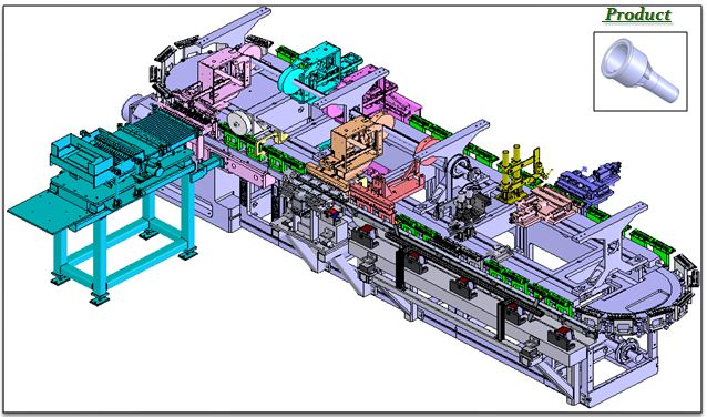 continuous motion automated assembly equipment
